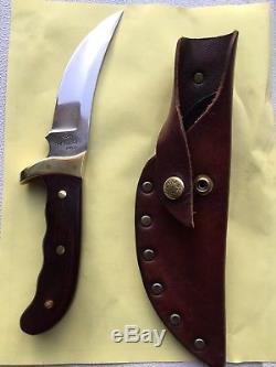 Vintage BUCK KALINGA USA Fixed Blade Hunting Knife with Original Sheath