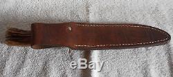 Vintage Blackjack Effingham Ill. Stag Hunting Skinning Knife Carbon Steel #1-7