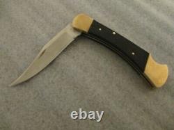 Vintage Buck 110 Inverted USA No Model # Stamp Folding Knife + Orig. Sheath