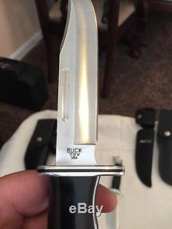 Vintage Buck Knife Lot USA 120 And 119 And 103 All In Great Condition withSheath