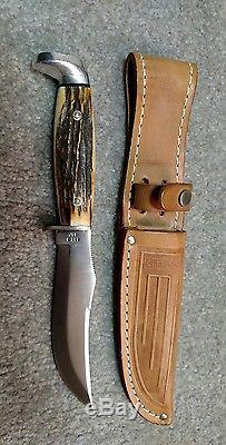 Vintage Collector's Antique Case-XX 523-5 SSP fixed blade hunting knife &sheath