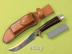Vintage Custom Hand Made RANDALL Hunting Fighting Knife & Sheath Stone