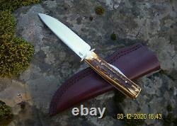 Vintage Custom Stag Scagel Northwoods Knife