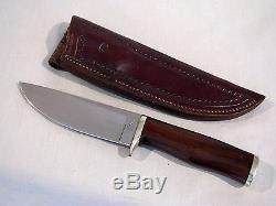 Vintage DON WEILER YUMA FIXED BLADE HUNTING KNIFE WITH SHEATH