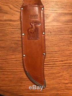 Vintage Edge Brand 482 Solingen, Germany Stag Hunting Survival Bowie Knife WithSh
