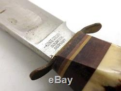 Vintage Edge Brand 483 Hunting Knife Set Solingen West Germany Stag Handles