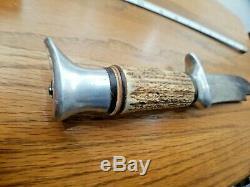 Vintage Edge Mark stag handle, Bowie knife 8 Blade, Solingen Germany