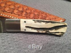 Vintage Fecas Custom Stag Hunting Knife from 1987