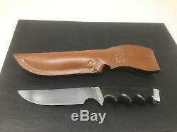 Vintage Gerber 525 Hunting Knife With Original Sheath 5 1/4 Blade 10 Long
