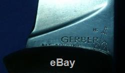 Vintage Gerber Hunting Folder Knife High Speed Steel Early Pat. Pending