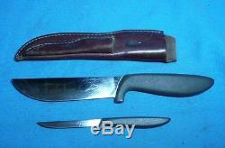 Vintage Gerber Pro Big Hunter and Pixie Hunting Knife Set