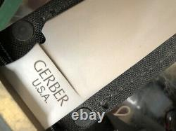 Vintage Gerber USA Coffin Handle Australian Bowie Knife 14.75oal