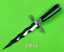 Vintage German Germany Linder Solingen Kris Blade Hunting Knife Dagger Scabbard