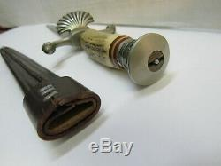 Vintage German Hirschfanger Hunting Knife Dagger Post WW2 with Scabbard