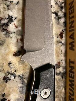 Vintage John Greco Custom Fixed Blade Hunting Knife With Leather Sheath Nice 10
