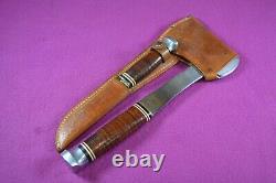 Vintage Ka-Bar Axe & Knife Combo Set with Leather Sheath KABAR 1331 & 1232 Ax