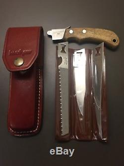 Vintage Kershaw by Kai Japan Blade Hunting Survival Knife Saw & Sheath NICE