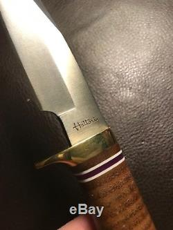 Vintage Knife By Ichiro Hattori Seki Japan Tactical Hunting Rare Mint