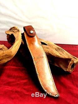 Vintage Knife RUANA USA Custom Made 9 Blade Hunting Knife & Sheath Montana Rare