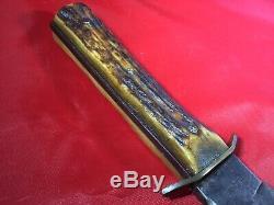 Vintage Large 50s Olsen Solingen German Stag Hunting Skinning Bowie Knife