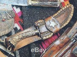 Vintage M. H. COLE Skinner Skinning Hunting Knife & Sheath Signed Book Letter