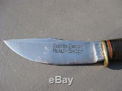 Vintage Marble's Hunting Knife Advertising Buster Brown Shoe Co
