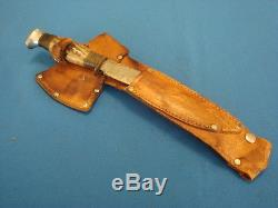 Vintage Matador Solingen Germany Stag Hunting KNIFE & HATCHET AXE SET WithSheath