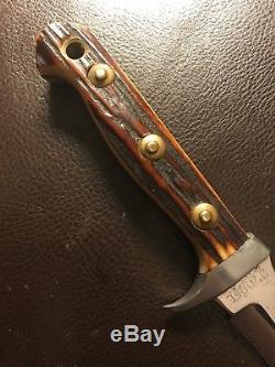 Vintage Olsen Stag Hunting Knife Solingen Germany Made By Puma (White Hunter)