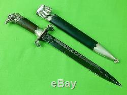Vintage Polish Poland Antia Eagle Head Fancy Engraved Hunting Dagger Knife