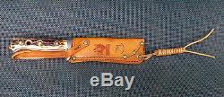 Vintage Puma 6393 Skinner Hunting Knife 1973 + Orig Sheath Made In Germany