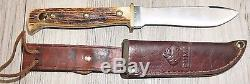 Vintage Puma Hunters Pal Hunting Knives Lot of 3 Dated 1966,67,68 German Stag