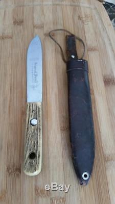 Vintage Puma Knife Model 6317 Fahrtenmesser Hunting Knife Stag Handle, Rare