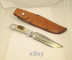 Vintage R. H. Ruana Bonner Montana M 6 Fixed Blade Hunting Knife WithOrig Sheath