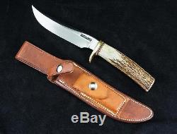 Vintage RANDALL MADE Model 3 Stag Knife 6 BLADE withOriginal Randall Made Sheath