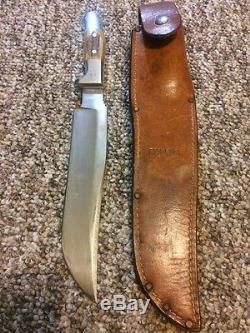 Vintage RUANA 27AC Tapered 9 Hunting Knife/Sheath