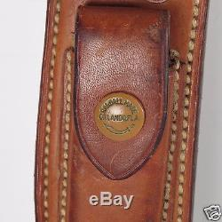 Vintage Randall Hunting Knife Right Hand Stag Handle Leather Sheath with Compass