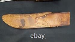 Vintage Randall Model 3-6 Hunter Knife with Heiser Leather Sheath & Stone