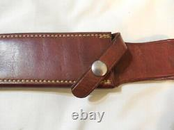Vintage Randall knife 3-7 S Rough back Sheath Finger Groove Stag Smooth button