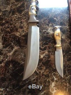Vintage Rare Ruana Combo 20B & 10B Hunting/Skinner Knives/Sheath