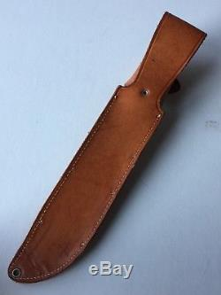 Vintage Rare Western L46-8 12 Bowie Hunting Knife with Original Sheath