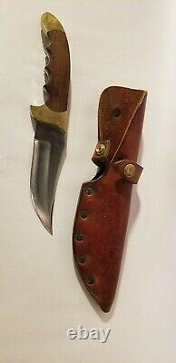 Vintage Rigid Hunting Knife fixed blade sidewinder