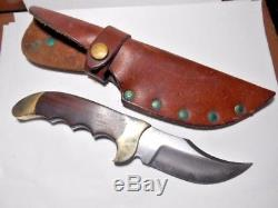 Vintage Rigid USA Fixed Blade Hunting Skinner Knife With Sheath