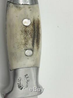 Vintage Ruana 11A Knife Blade Signed with Bullwhip Bonner Montana with Sheath