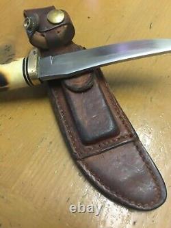 Vintage Schrade USA 153UH Uncle Henry Fixed Blade Knife #224323- Original Sheath