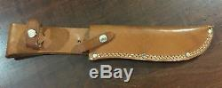 Vintage Solingen Germany Hunting Bowie Knife & Sheath DELIGHTS BUMIN AROUND
