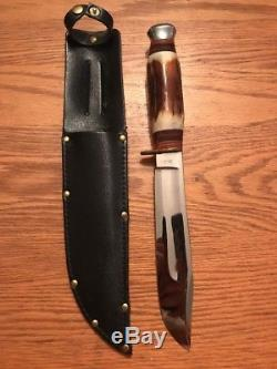 Vintage T. Wright & Daughter Sheffield England Bowie Survival Hunting Knife