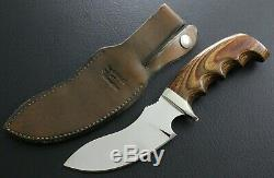 Vintage Track Knife Distributed By Ithaca Guns Hunting Knife W Sheath