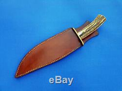 Vintage U. S. A Custom Hand Made Jim Siska-Large Bowie Knife