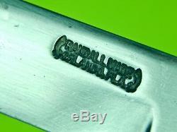 Vintage US 1950-60's Custom Handmade RANDALL Hunting Stag Knife & Sheath Stone