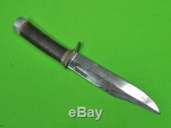 Vintage US 1960's Custom Made RANDALL Fighting Hunting Knife & Sheath